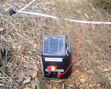 when you are happy with the earth connect the black terminal of the solar electric fence energizer to the earth peg with a wire no longer than 1 meter