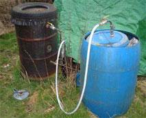 Experimental methane generator project