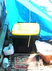 Composting toilet wheelie bin
