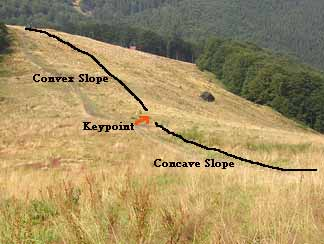 Finding the hill slope key point in permaculture landscape design