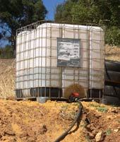Water cube header tank