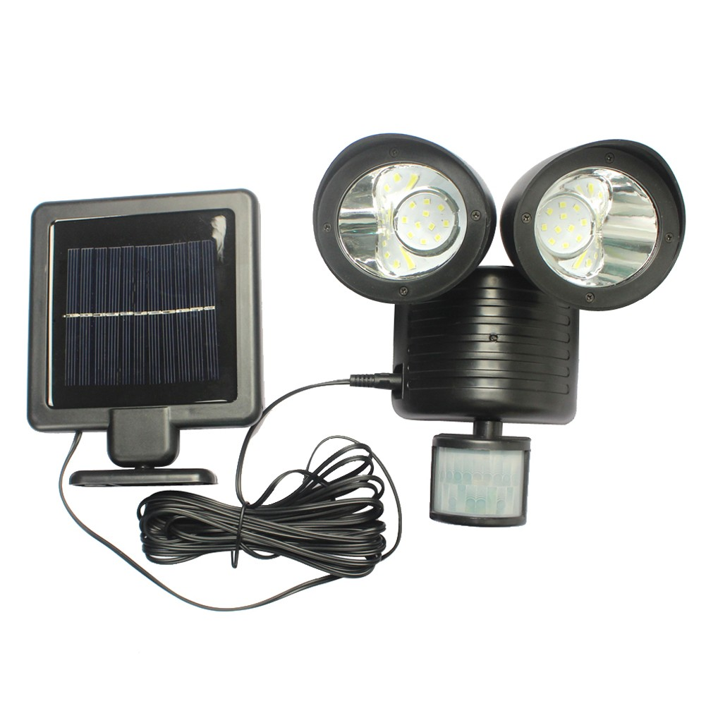 22 led solar high power outdoor waterproof street light with motion sensor. Black Bedroom Furniture Sets. Home Design Ideas